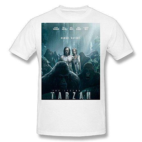 Flesiciate1 Men The Legend of Tarzan Film Poster Design Size L T Shirt]()