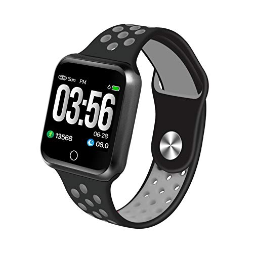 S226 Smart Watch Heart Rate Monitor Blood Pressure Waterproof Standly 15 Day for Android iOS Women Men Sport Smartwatch,Black Gray,Without Box