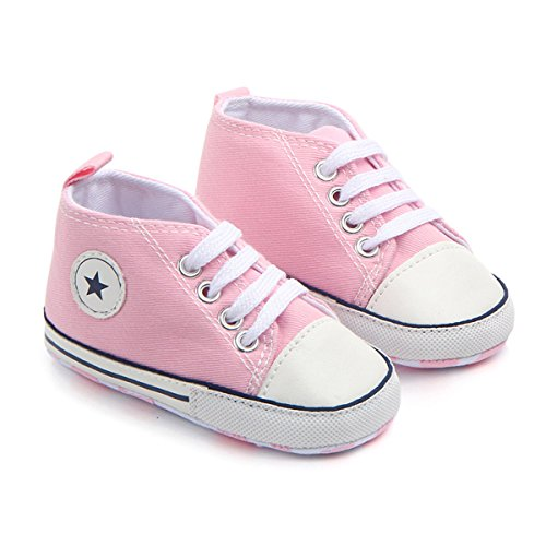 Baby Girl Pink Pram Shoes - 1