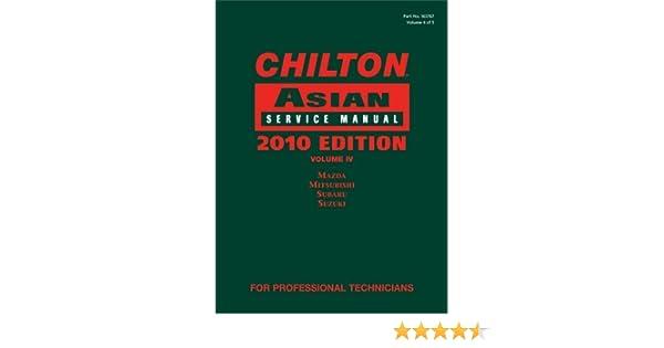 2008 Suzuki Subaru Volume 4 Chilton Asian Service Manual Mazda Mitsubishi