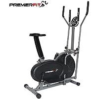 PremierFit Cb3602en 1Vélo elliptique Vélo d'appartement–Fitness Cardio Minceur Workout Machine avec Assise + Fréquence Cardiaque Pulse capteurs