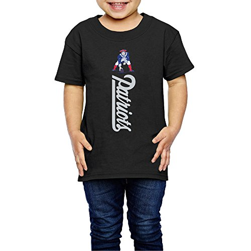 AK79 Kids 2-6 Years Old Boys And Girls Tshirt New England Logo Patriots Black