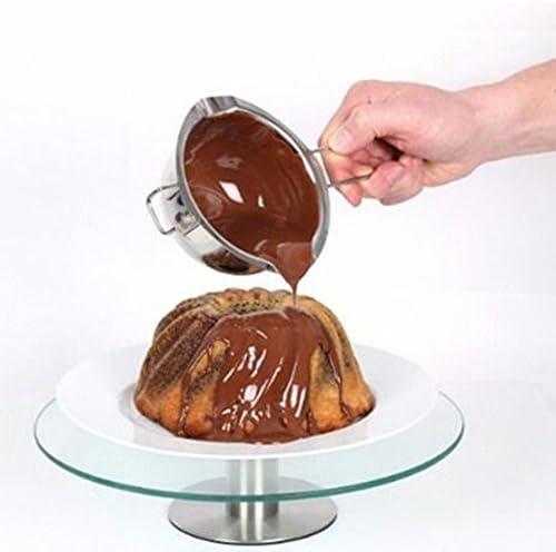 Namgiy Wasserbad Schmelzschale Schokolade Schmelzen Topf Edelstahl Schüssel mit Griff zum Schmelzen Schmelztopf Beheizte Butter Käse Creme Küche Backen Werkzeuge