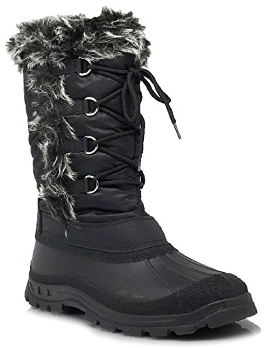 ICE Women Winter Cold Weather Rubber Toe Snow Boots Lace