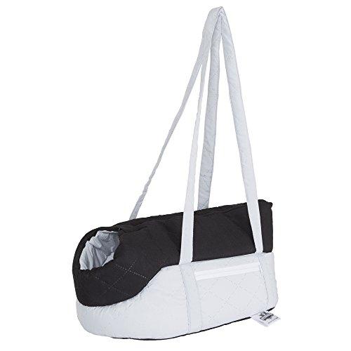 "PETMAKER Cozy Travel Pet Carrier, 16.5"" x 8"" x 9"", Gray/Blac"