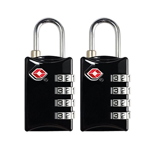 TSA Luggage Locks 2 Pack 4 Digit Combination Steel Approved for Travel Accessories Travel Baggage Suitcases Backpacks by TSA lock