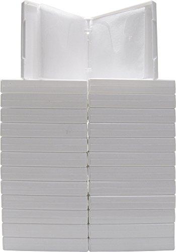 (25) White 12-Disc Capacity CD DVD 2-Ring Album Wallet Book #CDBR2412WH