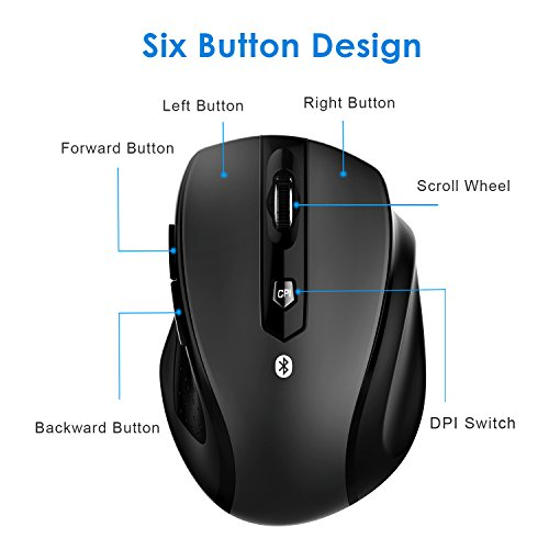 JETech M0884 Bluetooth Wireless Mouse for PC, Mac, and Android OS Tablet with 6-month battery life by JETech (Image #4)