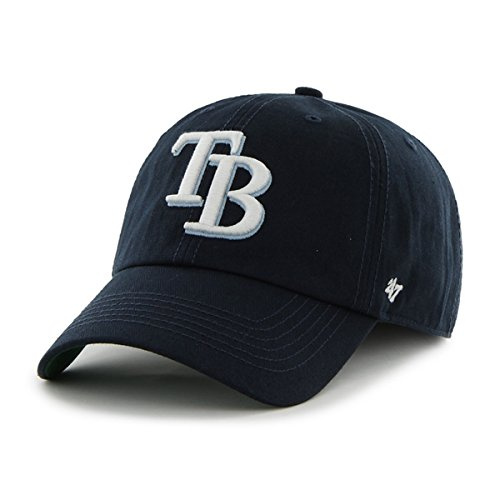 Tampa Bay Rays 47 Brand Franchise Navy Blue White Logo TB Rays Back Hat Cap (L)