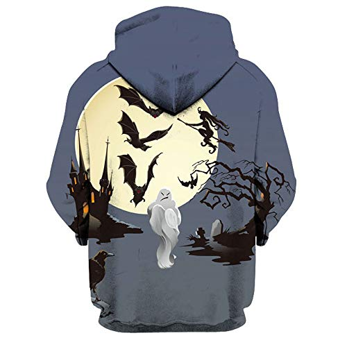 Bestow Jacket Day Punk 3D Winter Sleeve Halloween Hoodie Hip M Long Hop Sweaters Women Autumn Pullover Unisex 3XL Sweatshirt Men Coat003 All Souls Couple Hooded Print Multicoloured Athletic ZwnArxZqRS