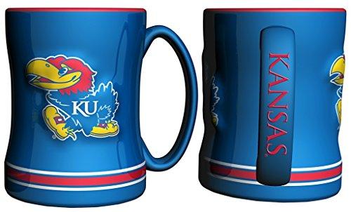 Kansas Jayhawks 15 oz Relief Mug - (Ncaa Coffee Mugs)