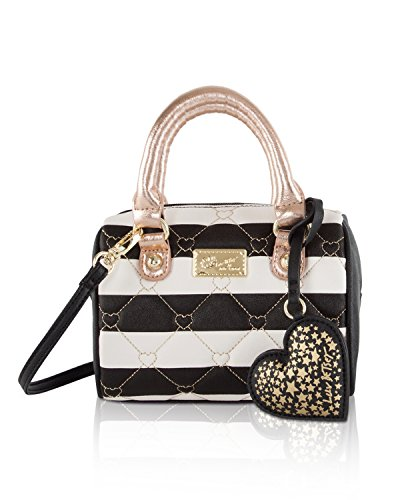 Luv Betsey Johnson Harlii Heart Mini Crossbody Satchel Bag - Stripe (Betsey Johnson Stripe)