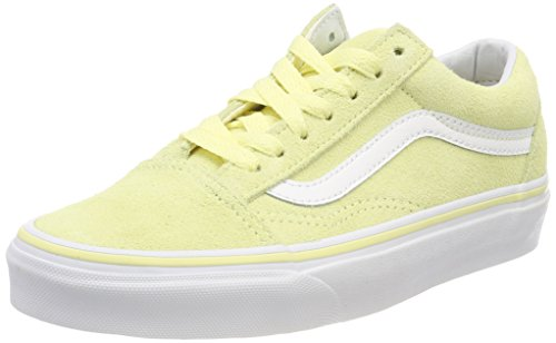 Vans Women's Old Skool(Suede) Tender Yellow/True White (6) by Vans