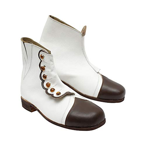 Core Plus Women's Victorian Button-up Leather Boot's (8.5) White ()