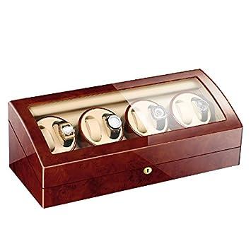 L.HPT® Cajas Para Relojes Devanadera Para Hombres 8 + 9 Almacenajes De Cuero