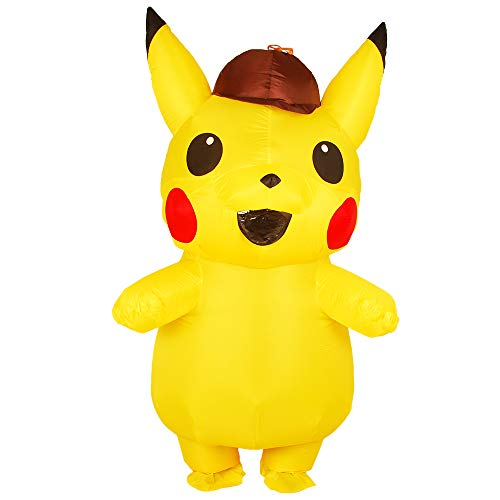 Kooy Adult Detective Pikachu Sparky Inflatable Costume Cosplay Halloween (Adult_Detective)]()