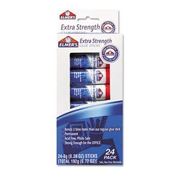 Elmer's E554 Extra-Strength Office Glue Sticks, 0.28 oz, 24/Pack