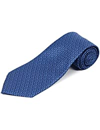 Extra Long Blue Fish Novelty Silk Tie (63 Inches)