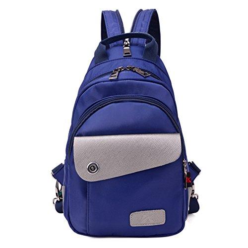 Damas bandoleras,bolso de la lona-Púrpura Azul