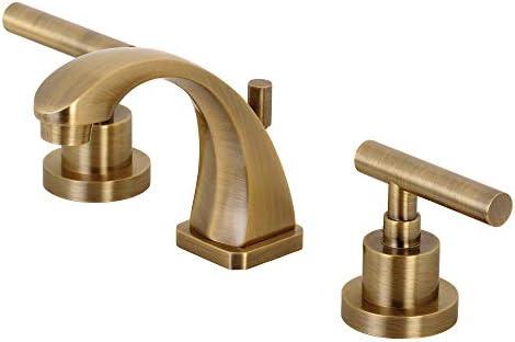 """Kingston Brass KS4943CML Manhattan 8"""" Widespread Bathroom Faucet, Antique Brass"""