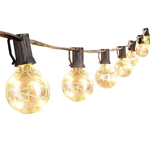 Outdoor Clear Round Globe String Lights in US - 3