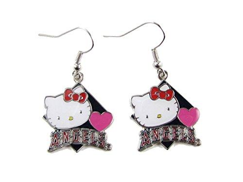 (Los Angeles Angels Hello Kitty Diamond Dangle Earrings Girls Womens Gift Jewelry S2)