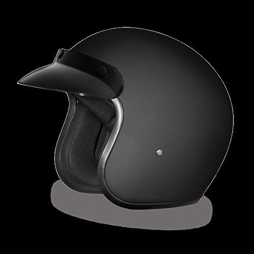 Mens Motorcycle DOT Dull Blk Cruiser Riding Full Face Lightweight FMV218 Helmet (Men M ()