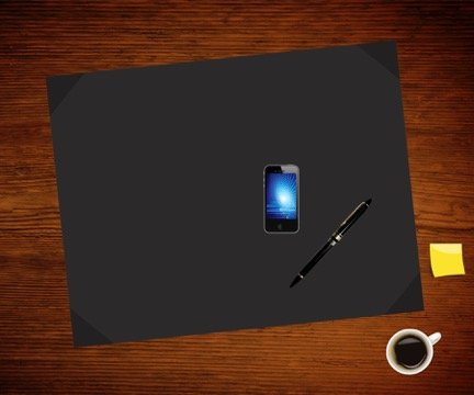 Blue Leatherette Deskpad Blotter 17'' x 22'' Hand Crafted, Desktop Protector Blotting Paper Pad Desk Mat, Smooth Writing Pad From CBA Corp by Creative Boards