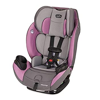 Image of Evenflo EveryStage LX All-in-One Car Seat, Rear-Facing Seat, Convertible & Booster Car Seat, Grows with Child Up to 120 lbs, Angled for Comfort & Safety, 3-Times-Tighter Installation, Mira Pink Baby