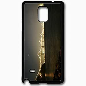 Unique Design Fashion Protective Back Cover For Samsung Galaxy Note 4 Case Bridge Night River Black
