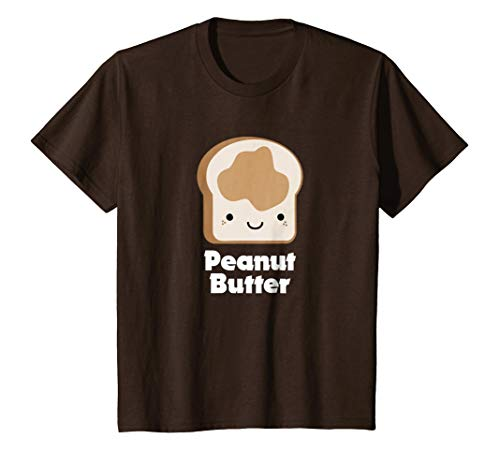 Kids MATCHING SET Peanut Butter and Jelly Couples Friend Shirt 12 Brown