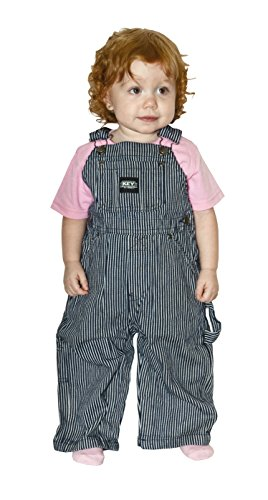 Key Little Boys Hickory Stripe Bib Overall