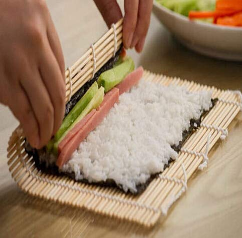 Bamboo Kitchen Tool - Bamboo Sushi Mat Onigiri Rice Roller Rolling Maker Japaness Food 24 24cm - Replacement Charm Derby Roller Shirts Blade Junior Chocolate Parts Skate Iron Ring Cards -