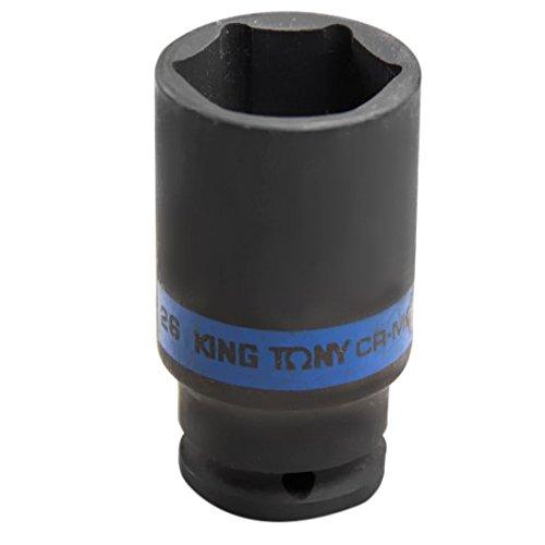 king tony 483526M Douille à Chocs Métrique 1/2' Longue Paroi Fine, 26 mm