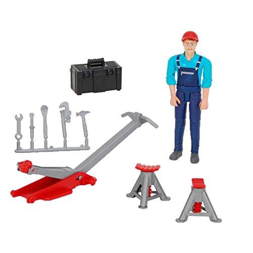 Bruder 62100 - Set mécanicien Bworld avec figurine et accessoires