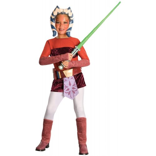 Star Wars Disney Clone Wars: Ahsoka Deluxe Child Costume Medium Orange]()