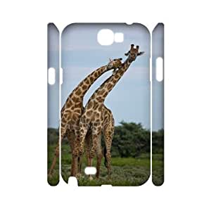ALICASE Hard case Giraffe 3D Diy For Samsung Galaxy Note 2 N7100 [Pattern-1]