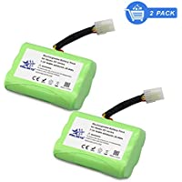 Melasta 2 Pack Super Extend 4000mAh 7.2V NIMH Vacuum Cleaner Replacement Battery for Neato XV-11 XV-12 XV-14 XV-15 XV-21 XV-25 Compatible with Neato 205-0001 945-0006 945-0024 945-0005
