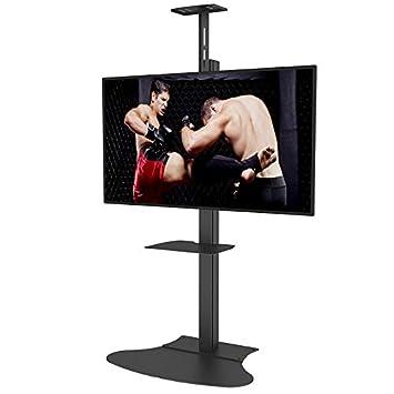 Soporte de pie de TV Resistente para TV de hasta 65 Pulgadas, Altura Ajustable LED (sin Ruedas) Soporte de Pantalla Plana para la Base de la televisión: ...