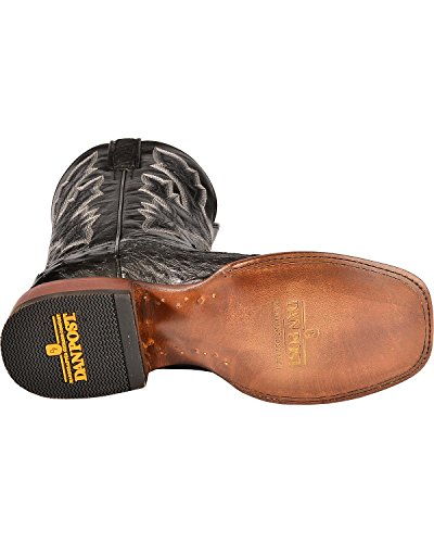 Dan Placera Mens Quilled Struts Cowboy Boot Fyrkantig Tå - Dpp5656old Svart