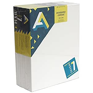 Art Alternatives Economy Artist White Canvas Super Value Pack-11 x 14 inches-Pack of 7