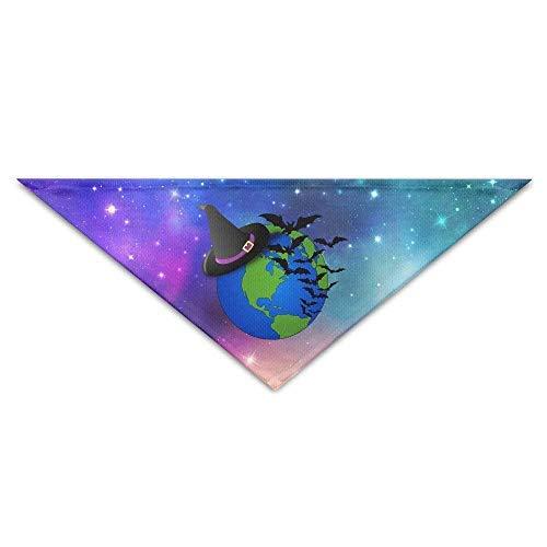 DKFDS Halloween Global Bat Baby Pet Dog Scarves Puppy Triangle Bandana Bibs Triangle Head Scarfs Accessories ()