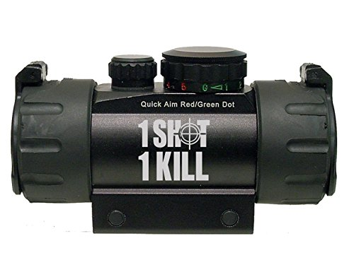 1 Shot 1 Kill Crosshairs 2 Line Engraved Leapers UTG Red or Green DOT CQB Tactical sight by NDZ Performance
