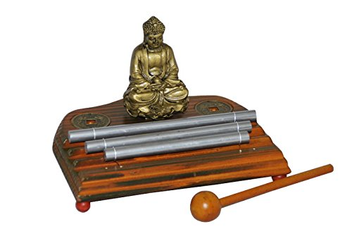 Meditation Energy Chime Three Tone with Mallet Exquisite Musical Toy Percussion Instrument by THY COLLECTIBLES