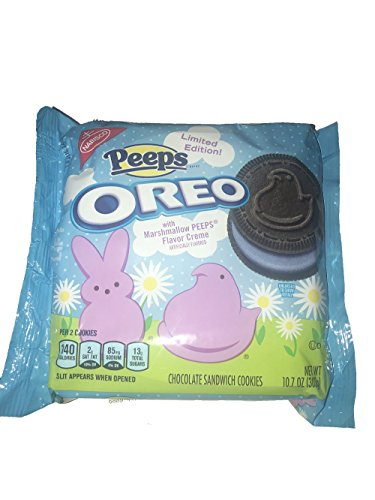 New Limited Edition Peeps Oreos! Chocolate Oreo Cookie With Purple Peeps Marshmallow Creme With Crunchy Sugar Crystals! One Pack Or Two Pack! Delicious Cookies Everyone Will Love! (Two Pack)