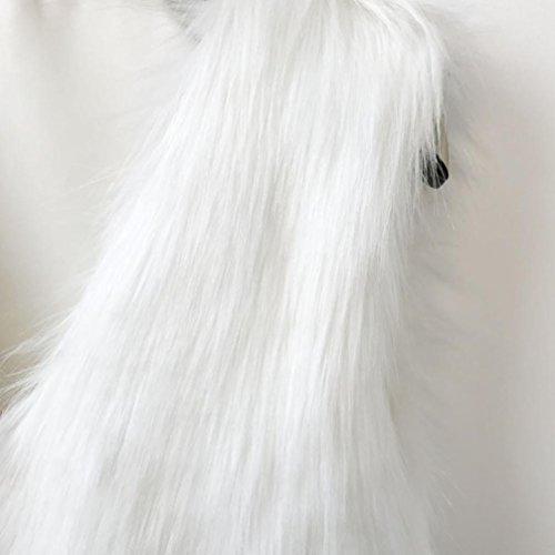 Sintética Chaleco Cálidas sin KaloryWee Chaleco para Blanca Blanco Mujer Delgada Piel Mangas Mujer S8UqqBpw