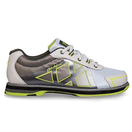 Bowling Shoe Yellow (KR Strikeforce L-049-075 Kross Bowling Shoes, White/Grey/Yellow, Size 7.5)