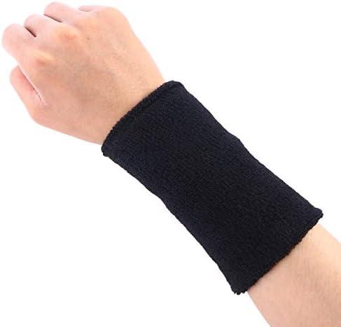HEALLILY Sportarmbänder Saugfähige Schweißbänder für Fußball Basketball Laufen Athletic Sports 2St