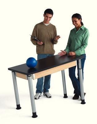 100709X4 - Adjustable Height Table, Plastic Laminate Surface, Optional Casters (4/Set) - Adjustable Height Table, Plastic Laminate Surface - Each