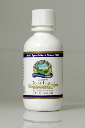 Naturessunshine Dulse Liquid Supports Thyroid Function Alcohol-Free Herbal Extract 2 fl.oz (Pack of 12)